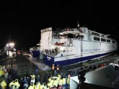 Turkish ship Osman Gazi 1 carries more than 1,200 people out of Libya