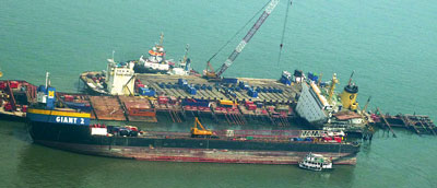 MSC Chitra being refloated