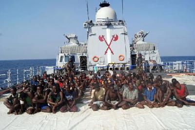 Indian navy once again re-captured pirates mother-ship