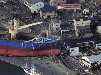 Shipping stalls as Japan tackles post-tsunami debris clean-up