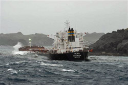 MS Oliva broken in two, caused environmental disaster
