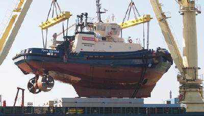 Nordane tug left for Canada on a heavylifter