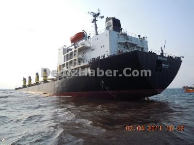 Bulk carrier Mirach ran on the rocks