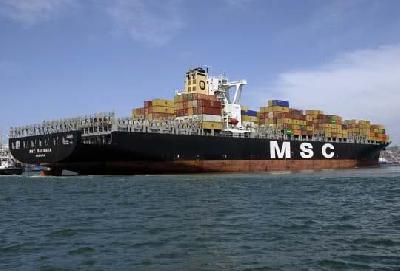 """""""MSC Loretta"""" ran aground"""