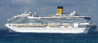 Cruise ship Costa Magica went aground at Copenhagen
