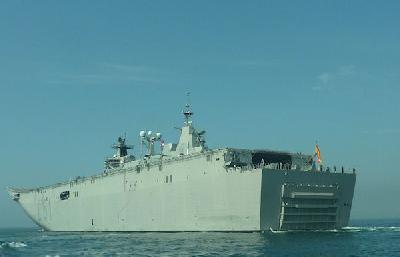 Spanish multipurpose naval ship 'L-61 Juan Carlos 1' left Istanbul