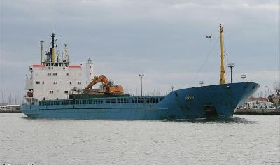 Anja adrift near Canakkale Strait, Turkey