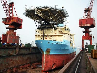 Cable layer Maersk Responder sailing with satisfaction