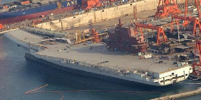 Construction on China's First Aircraft Carrier Continues