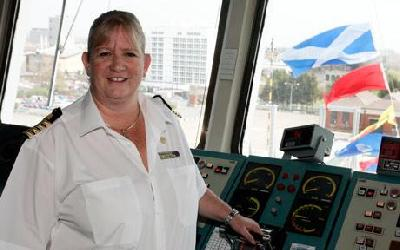 First female cruise ship captain to sail in Australasian waters
