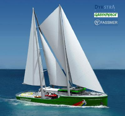 Germany: Fassmer Shipyard to Finish THE RAINBOW WARRIOR III in October