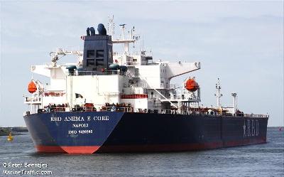 Italian tanker Anema e Core seized by pirates off Benin
