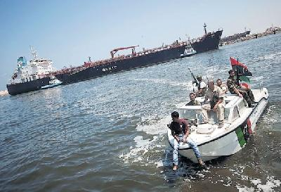 Libyan rebels seize state-owned tanker, perhaps with the NATO assistance