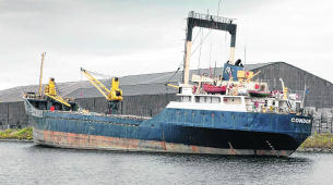Rusty freighter threatens to sink