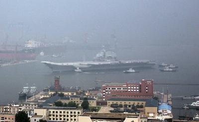 Ex-Varyag returns to Dalian after maiden sea trial