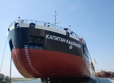 Russia: Okskaya Shipyard Launches Sixth Bulk Carrier for Volga Shipping Company