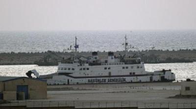 """The Turkish vessel """"Tasucu"""" evacuates stranded workers"""