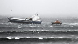 Thurso lifeboat aids cargo ship in gale-force conditions