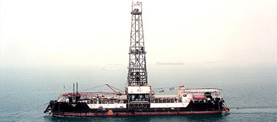 Offshore oil rig vessel stranded off Karwar port