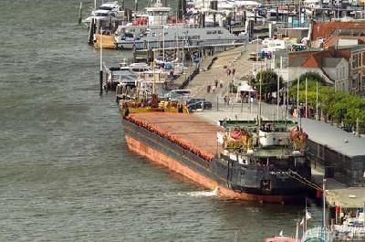 Fery ran into cargo vessel