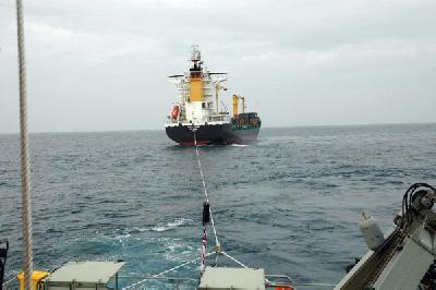 Australian Patrol Boat Averted Grounding of Container Ship