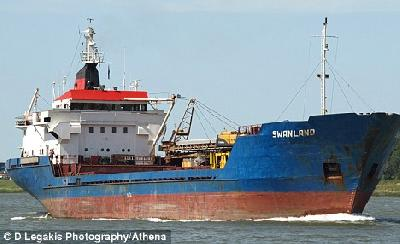 Six missing and two rescued as cargo ship SWANLAND sinks in the Irish Sea