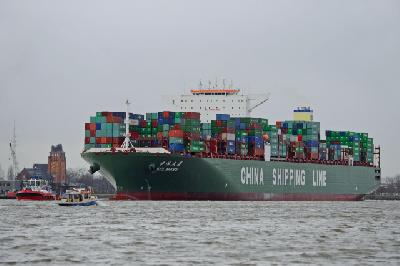 Port of Hamburg welcomes China's 14,000-TEU CSCL Mars on maiden voyage