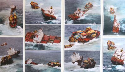 No more oil leaks from broken Rena's as containership now 75pc submerged