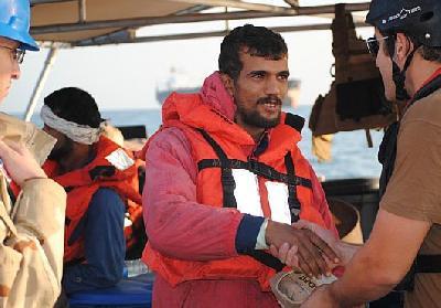U.S. Coast Guard Ship Renders Aid to Iranian Mariners