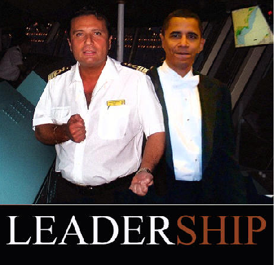 Comparing President Obama to the captain of the Costa Concordia cruise ship!