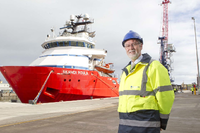 UK: First Vessel Docks at New Aberdeen Harbour's Torry Quay