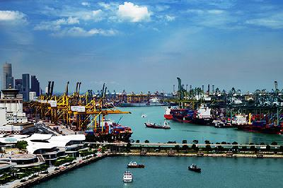Singapore again challenges Shanghai for world's busiest box port title