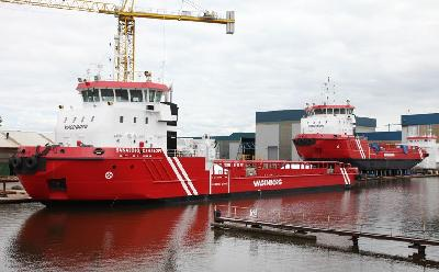 Construction of Wagenborg's Icebreakers Nears Completion (The Netherlands)