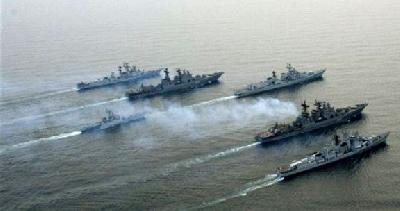 Re-flagged arms ship sails for Syria escorted by 6 Russian warships
