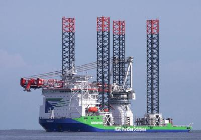 Germany: Heavy Lift Jack-Up Vessel 'Innovation' Completes Sea Trials