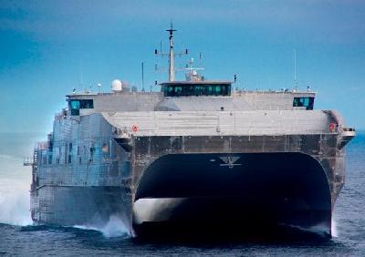High-Speed Catamaran USNS Spearhead (JHSV 1) Finishes AT