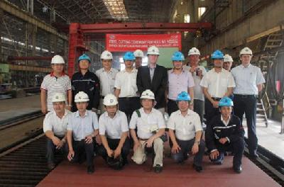 China: Tsuji Cuts Steel for The World First Pure LNG Propulsion General Cargo Vessel