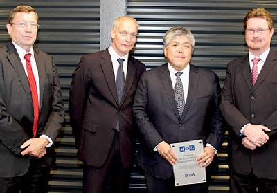 Japan: MOL Receives EVO's Top Award for Container Service