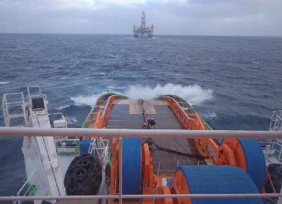 Fairmount Sherpa Tows Atwood's Rig from Mauritius to Trinidad
