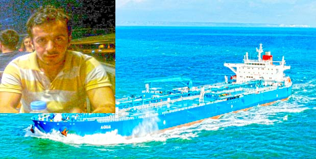Young second officer disappeared on Turkish Tanker AQUA