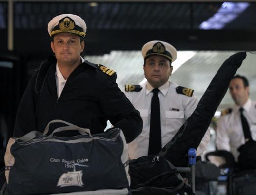 Crew of Argentine ship 'Ara Libertad' returns home