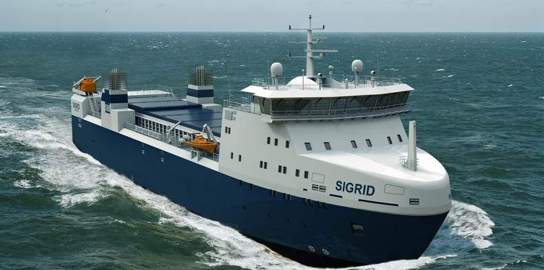 Damen Shipyards Galati launches nuclear cargo vessel 1600