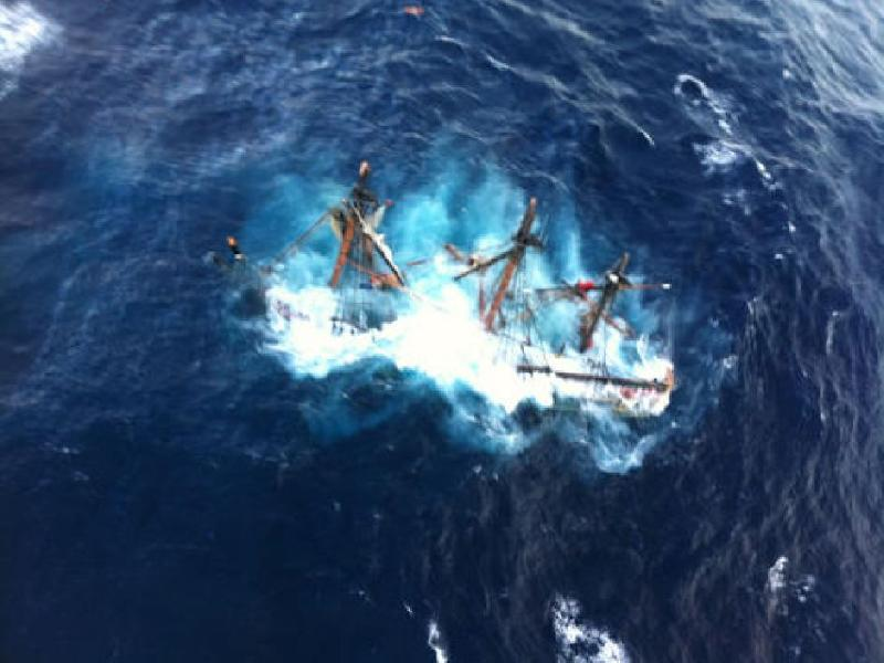 Tall ship HMS Bounty sinks off N.C. coast; two still missing