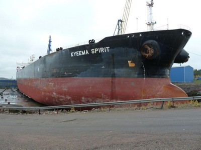 Finland: Turku Repair Yard Performs Emergency Repair of Tanker Kyeema Spirit