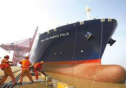 China: CMA CGM MARCO POLO Deploys on Maiden Voyage