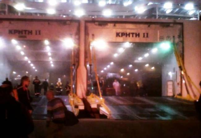 "Ferry ""Kriti II"" evacuated in Patras following major fire"