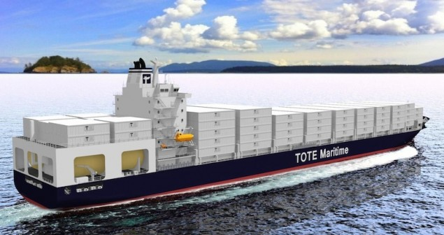General Dynamics to build 3,000-TEU LNG box ships for TOTE