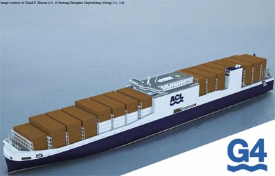 Shanghai to build 4 con-ro ships with stowage design to minimise ballast