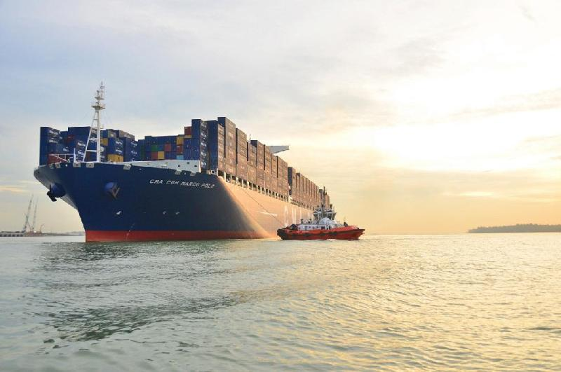 CMA CGM Christens World's Largest Containership Marco Polo