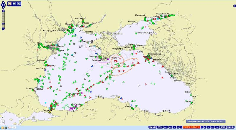 Illegal ship dumpings in the Black Sea in September - October 2012